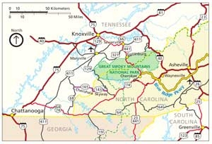 Great Smoky Mountains Regional Map